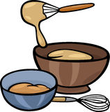 Dough knead clip art illustration. Cartoon Illustration of Kneading Dough with Whisk in a Bowl Clip Art Royalty Free Stock Photography