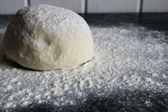 Dough Knead Flour Royalty Free Stock Image