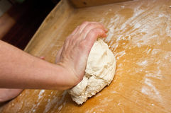Dough making Royalty Free Stock Photo
