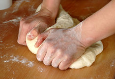 Dough making Royalty Free Stock Images