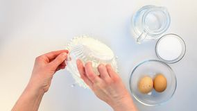 Dough making fail from top Stock Image