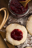 Dough with marmelade Stock Photography