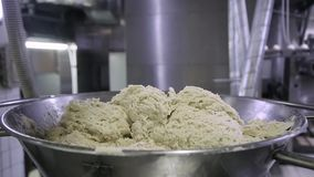 Dough Mixer. knead the dough stock video