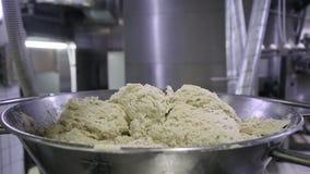 Dough Mixer. knead the dough. Knead the dough in the mixer stock video