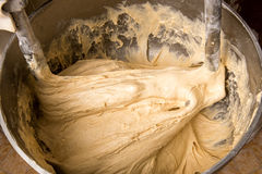 Dough Mixing in Industrial Bakery Stand Mixer Royalty Free Stock Photography