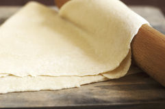 Dough for noodles stock photography
