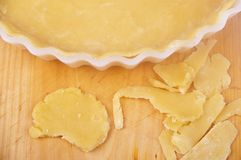 Dough pie tray Royalty Free Stock Image