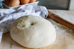 Dough for pizza Stock Photos