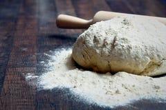 Dough, pizza dough. On the table Stock Photos