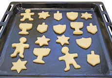 Dough preform. Hanukkah cookies Stock Photo