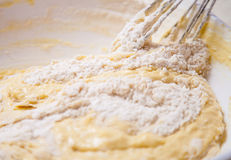 Dough preparation Stock Images