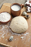 Dough with quail eggs Stock Images