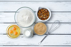 Dough recipe ingredients Stock Image