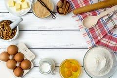 Dough recipe ingredients Royalty Free Stock Photo