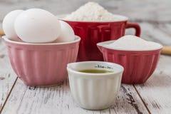 Dough Recipe Ingredients Stock Image