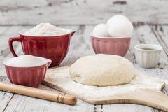 Dough Recipe Ingredients Royalty Free Stock Image