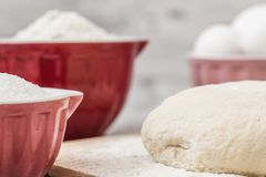 Dough Recipe Ingredients Royalty Free Stock Photography