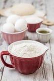 Dough Recipe Ingredients Royalty Free Stock Photos