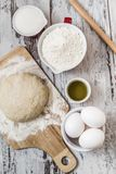 Dough Recipe Ingredients Stock Photography