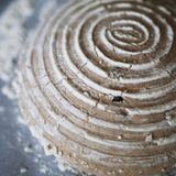 Dough removed from a banneton Royalty Free Stock Photo