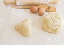 Dough with shape of a heart Stock Image