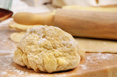 Dough to bake. A lump of dough to bake bread Stock Photo