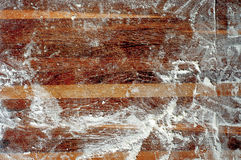 Dough_6. Wooden board background with flour Stock Image
