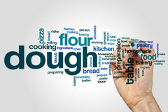 Dough word cloud concept on grey background Royalty Free Stock Images