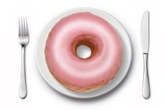 Doughnut άχρηστο φαγητό διατροφής Στοκ εικόνες με δικαίωμα ελεύθερης χρήσης