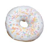 Doughnut βανίλιας απομονωμένος Στοκ Εικόνες
