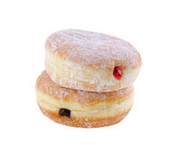 Doughnut. γεμισμένα ζελατίνα doughnuts στην ανασκόπηση Στοκ Εικόνα