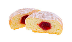 Doughnut. γεμισμένα ζελατίνα doughnuts στοκ φωτογραφία