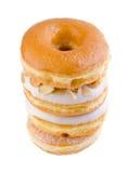 Doughnut, γλυκό doughnut με τη ζάχαρη Στοκ Φωτογραφίες