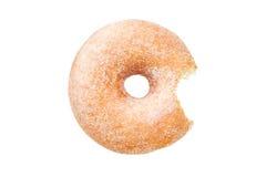 Doughnut δαχτυλιδιών ζάχαρης με την άσπρη ανασκόπηση Στοκ Εικόνα