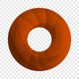 Doughnut εικονίδιο μπισκότων, ύφος κινούμενων σχεδίων διανυσματική απεικόνιση