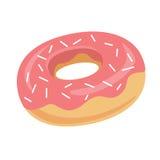Doughnut εικονίδιο επίσης corel σύρετε το διάνυσμα απεικόνισης Στοκ Εικόνες