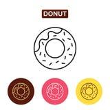Doughnut εικονίδιο Στοκ Εικόνα