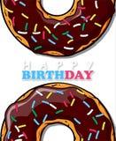Doughnut ευχετήρια κάρτα Στοκ εικόνες με δικαίωμα ελεύθερης χρήσης