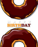 Doughnut ευχετήρια κάρτα Στοκ φωτογραφίες με δικαίωμα ελεύθερης χρήσης