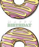Doughnut ευχετήρια κάρτα Στοκ φωτογραφία με δικαίωμα ελεύθερης χρήσης