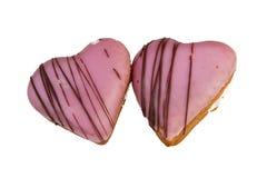 doughnut καρδιά που διαμορφώνετ&a Στοκ Εικόνες
