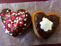 Doughnut καρδιές Στοκ εικόνες με δικαίωμα ελεύθερης χρήσης