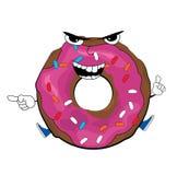 doughnut κινούμενα σχέδιαα Στοκ φωτογραφία με δικαίωμα ελεύθερης χρήσης