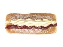 doughnut κρέμας μαρμελάδα Στοκ Εικόνα