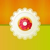 doughnut λευκό πετσετών Στοκ φωτογραφία με δικαίωμα ελεύθερης χρήσης