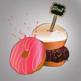 Doughnut με το ροζ που βερνικώνεται Στοκ Εικόνες