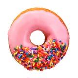Doughnut με ψεκάζει απομονωμένος στο λευκό στοκ εικόνα