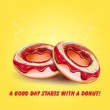 Doughnut λούστρο με τον καπνό στοκ εικόνα με δικαίωμα ελεύθερης χρήσης