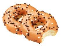 Doughnut που απομονώνεται κίτρινο Στοκ Φωτογραφία