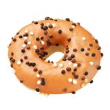 Doughnut που απομονώνεται καφετί Στοκ εικόνα με δικαίωμα ελεύθερης χρήσης